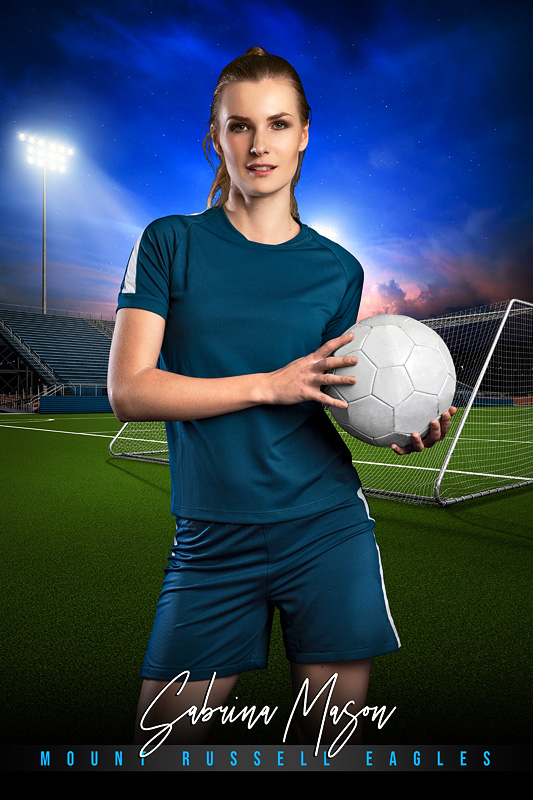 PLAYER BANNER PHOTO TEMPLATE - HOME TURF - SOCCER - CUSTOM PHOTOSHOP LAYERED SPORTS TEMPLATE