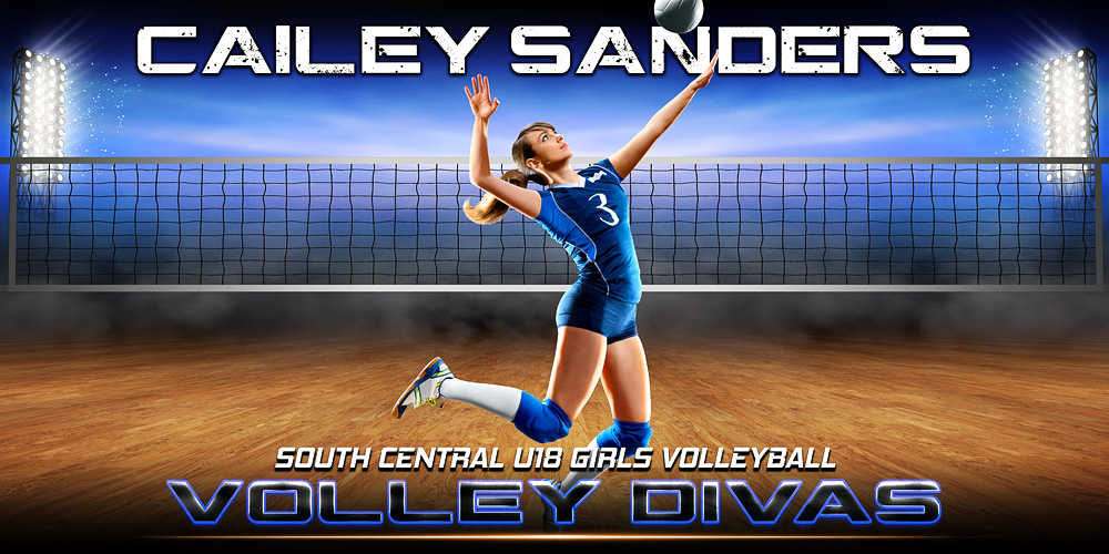 10X20 PHOTO TEMPLATE - PRIME TIME VOLLEYBALL - PHOTOSHOP LAYERED SPORTS TEMPLATE