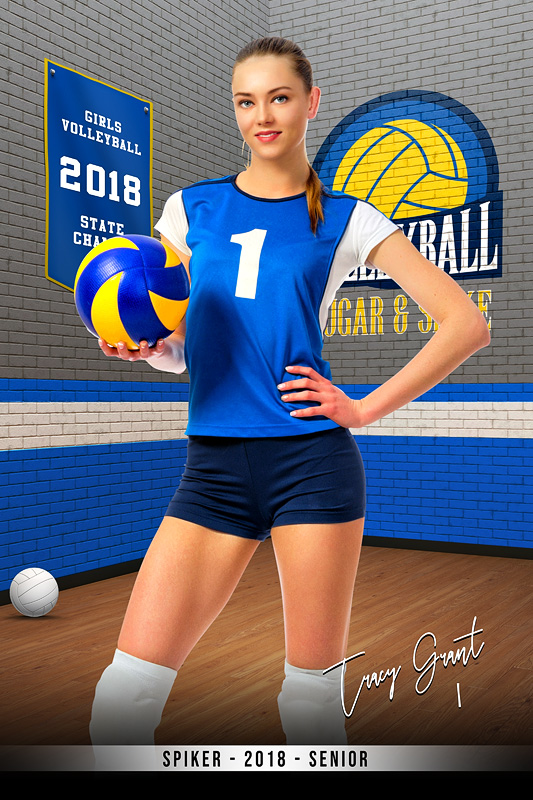 PLAYER BANNER PHOTO TEMPLATE - BRICK WALL - CUSTOM PHOTOSHOP LAYERED SPORTS TEMPLATE