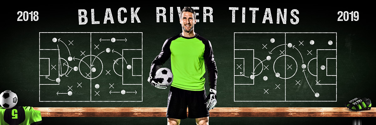 SOCCER PANORAMIC SPORTS BANNER TEMPLATE - SOCCER CHALK - CUSTOM LAYERED PHOTOSHOP SPORTS TEMPLATE