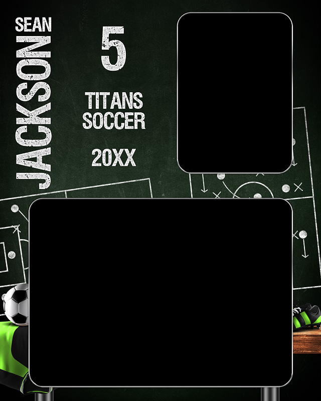 MEMORY MATE - VERTICAL - SOCCER CHALK - CUSTOM PHOTOSHOP LAYERED MEMORY MATE TEMPLATE