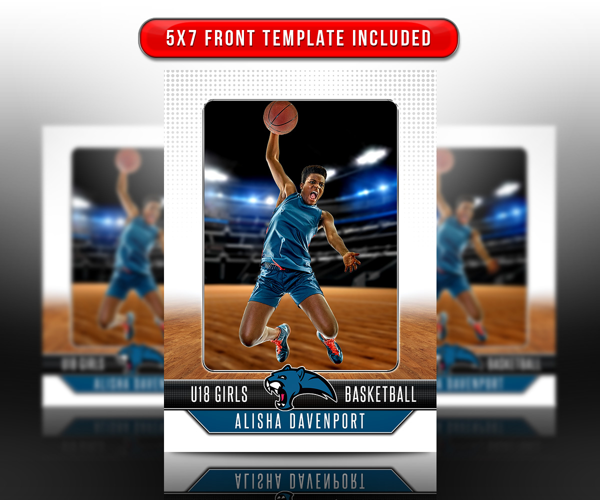 SPORTS TRADING CARDS AND 5X7 TEMPLATE - FADEAWAY