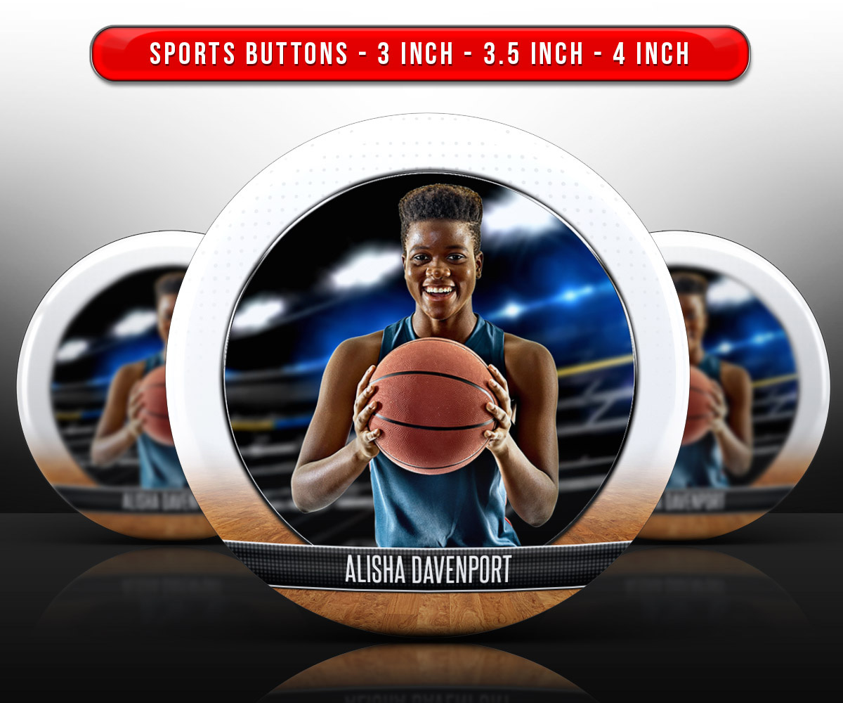 SPORTS PHOTO BUTTON TEMPLATES - FADEAWAY