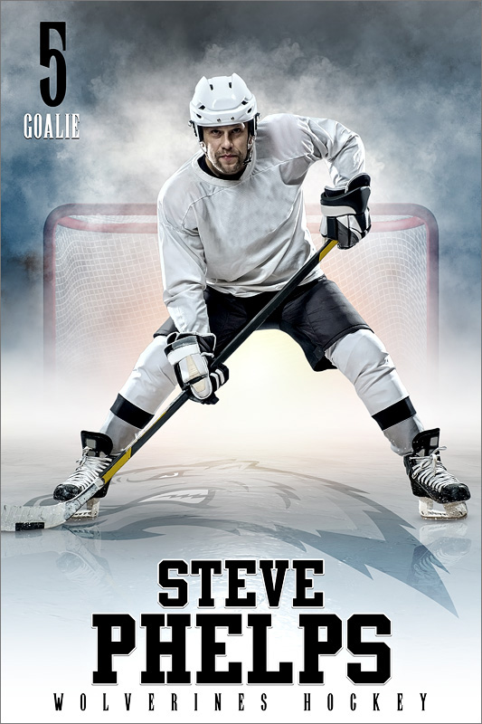 PLAYER BANNER PHOTO TEMPLATE - FROZEN - CUSTOM PHOTOSHOP LAYERED SPORTS TEMPLATE