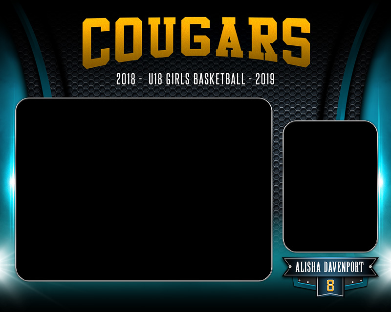 MEMORY MATE - HORIZONTAL - ARCHED METAL - CUSTOM PHOTOSHOP LAYERED MEMORY MATE TEMPLATE FOR ALL SPORTS