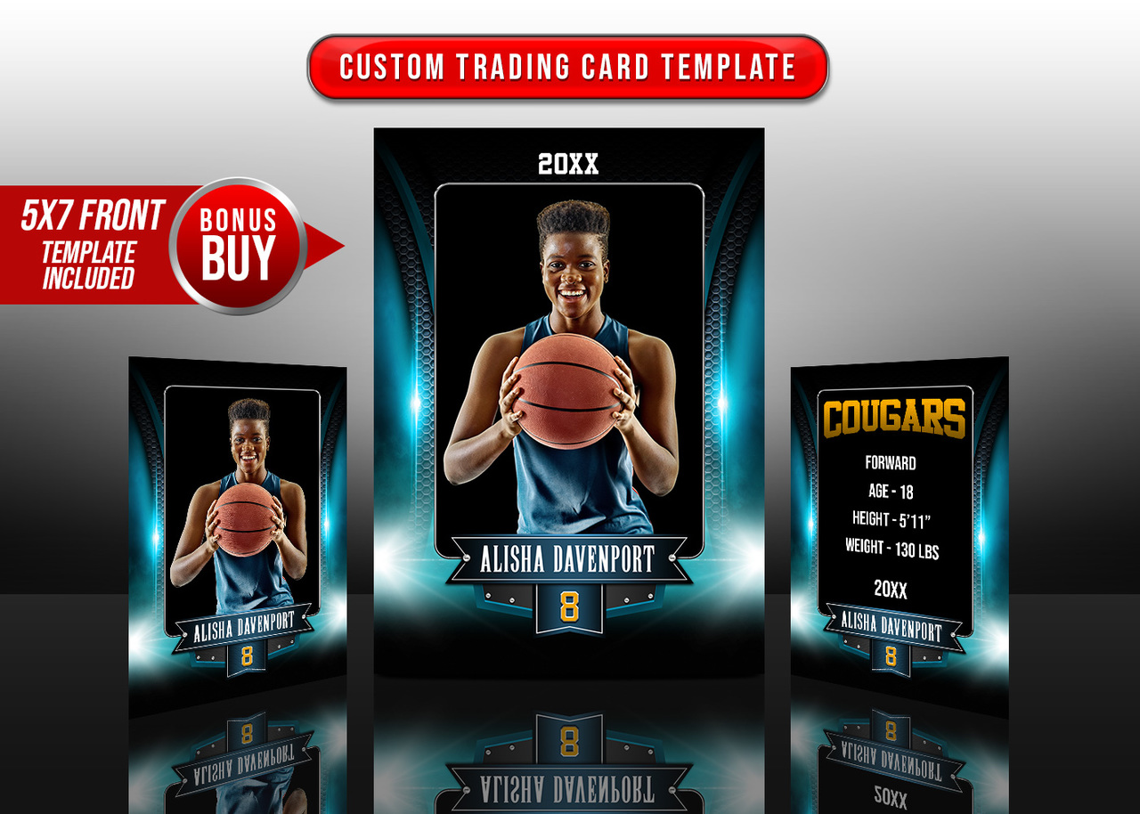 SPORTS TRADING CARDS AND 5X7 TEMPLATE - ARCHED METAL