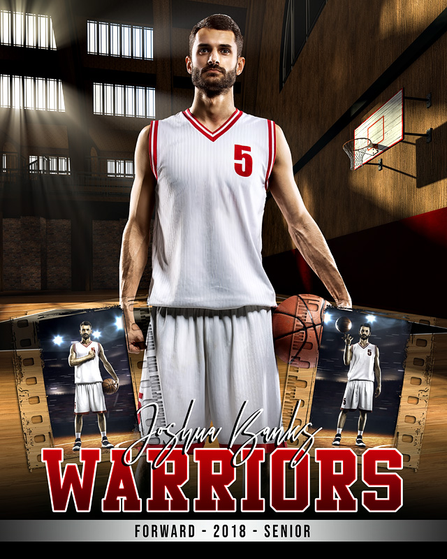 sports photo collage layered photoshop sports template vintage