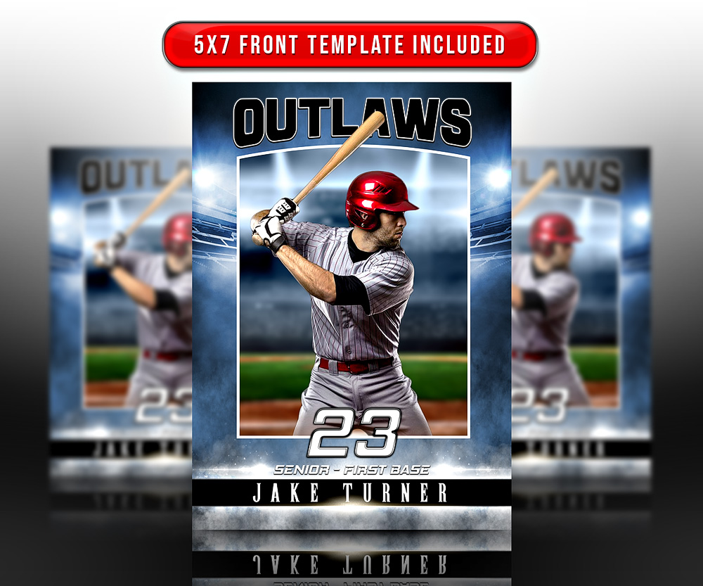 MULTI-SPORT TRADING CARDS AND 5X7 TEMPLATE - SPORTS STADIUM
