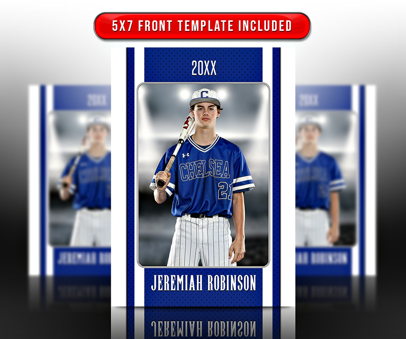 MULTI-SPORT TRADING CARDS AND 5X7 TEMPLATE - STRIPES
