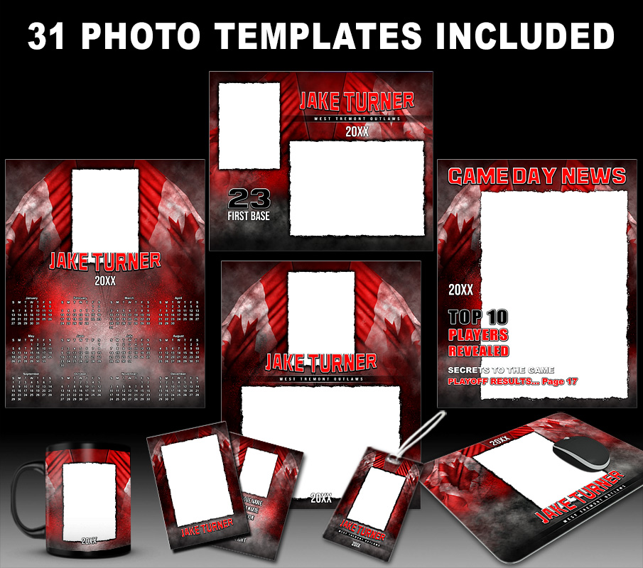 CANADIAN PRIDE COLLECTION - PHOTOSHOP SPORTS TEMPLATE COLLECTION