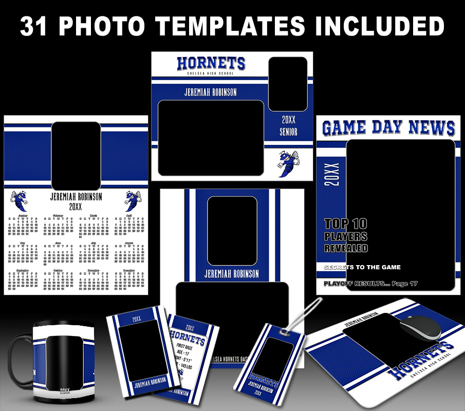STRIPES  COLLECTION - PHOTOSHOP SPORTS TEMPLATE COLLECTION