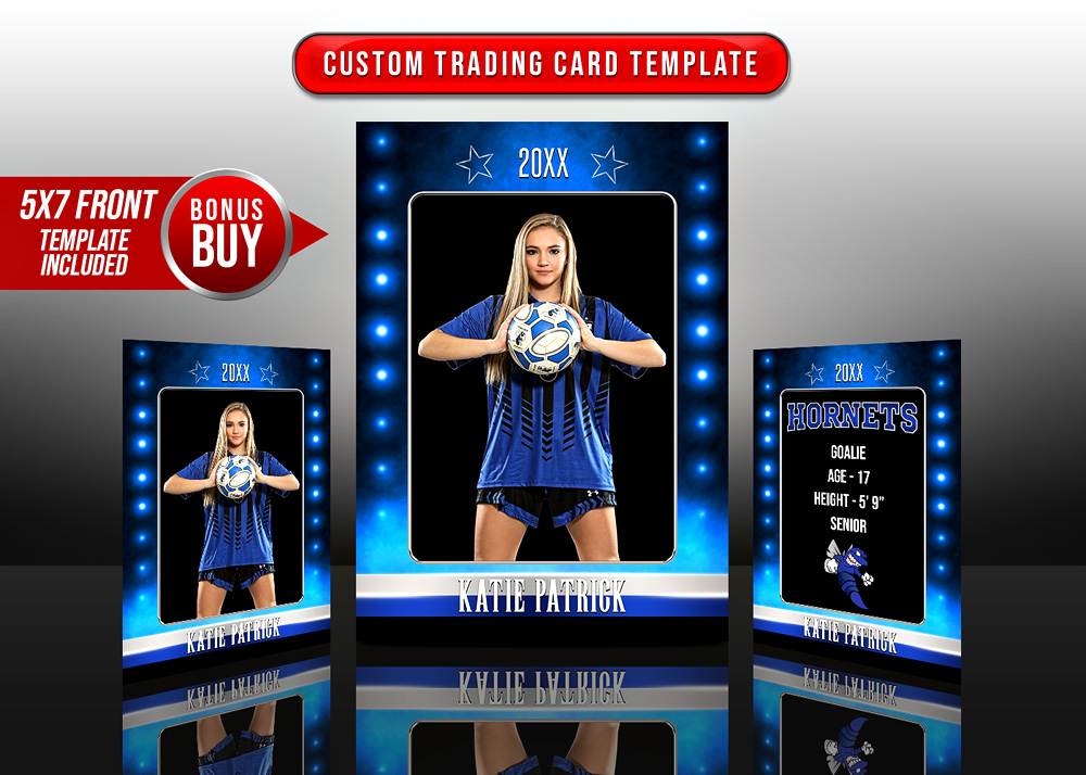 MULTI-SPORT TRADING CARDS AND 5X7 TEMPLATE - PRIME TIME