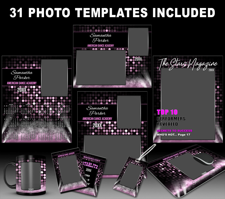 STAGE EFFECT COLLECTION - PHOTOSHOP SPORTS TEMPLATE COLLECTION