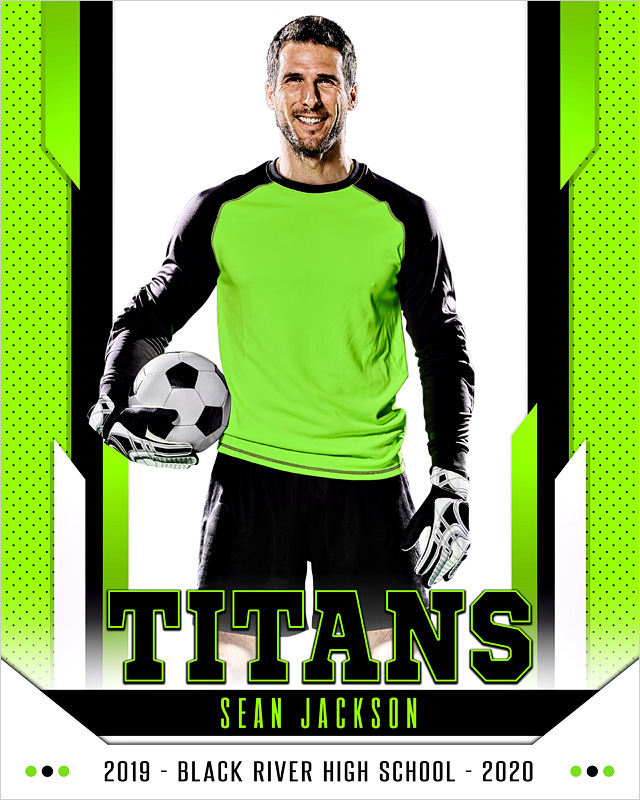 16x20 MULTI-SPORT POSTER TEMPLATE - ENCOMPASS - CUSTOM PHOTOSHOP LAYERED SPORTS TEMPLATE