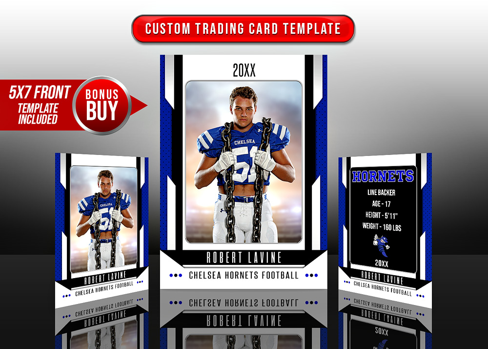 MULTI-SPORT TRADING CARDS AND 5X7 TEMPLATE - ENCOMPASS
