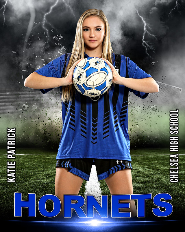 SPORTS POSTER TEMPLATE - SOCCER DESTRUCTION - PHOTOSHOP LAYERED SPORTS TEMPLATE