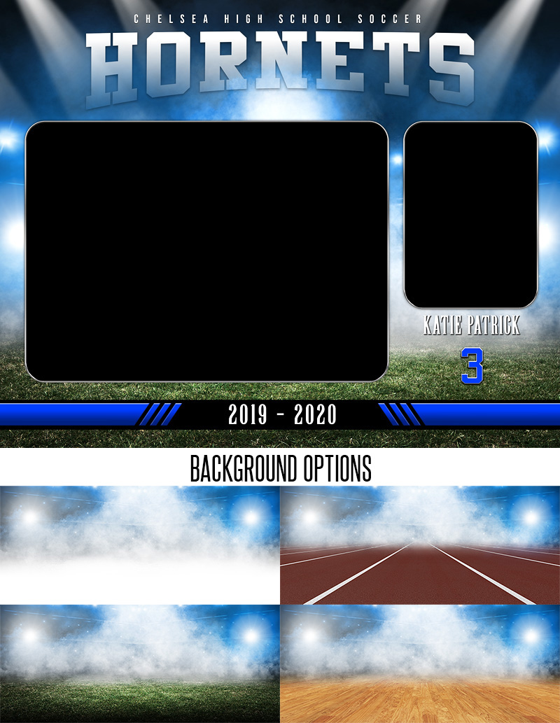MEMORY MATE - HORIZONTAL - STADIUM GLOW II - CUSTOM PHOTOSHOP LAYERED MEMORY MATE PHOTO TEMPLATE