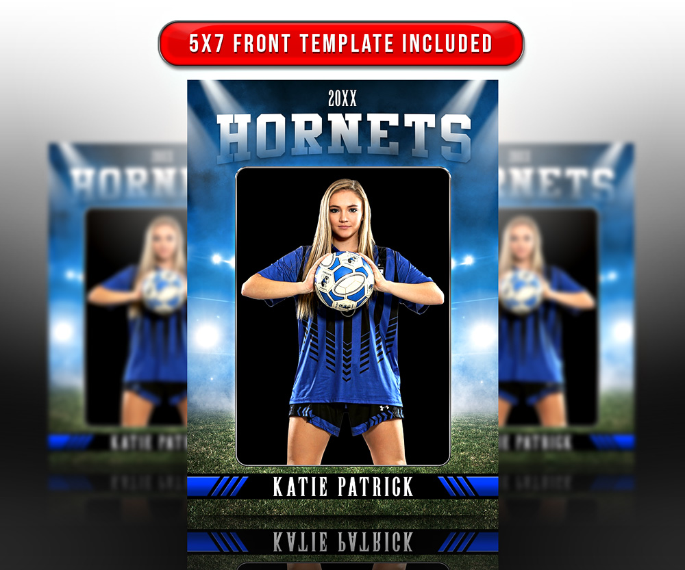 MULTI-SPORT TRADING CARDS AND 5X7 TEMPLATE - STADIUM GLOW  II