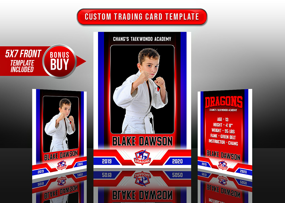 MULTI-SPORT TRADING CARDS AND 5X7 TEMPLATE - CENTER FORCE