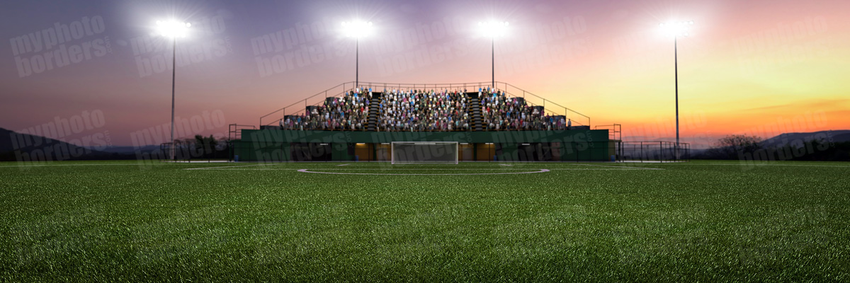 DIGITAL BACKGROUND - SOCCER PARK - PANORAMIC