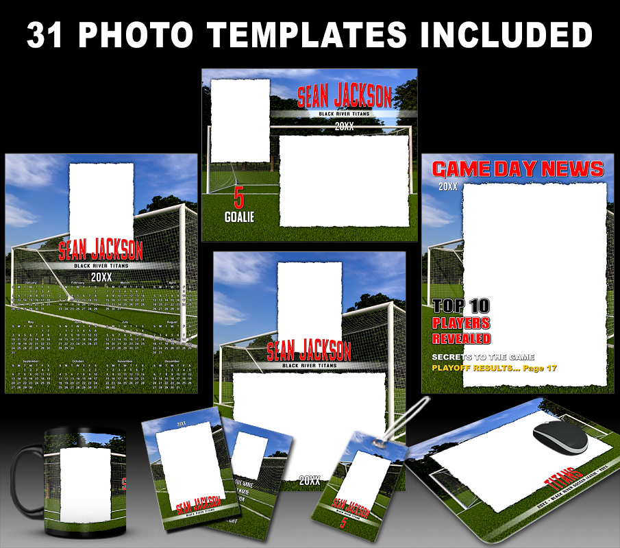 SOCCER  COLLECTION - PHOTOSHOP SPORTS TEMPLATE COLLECTION