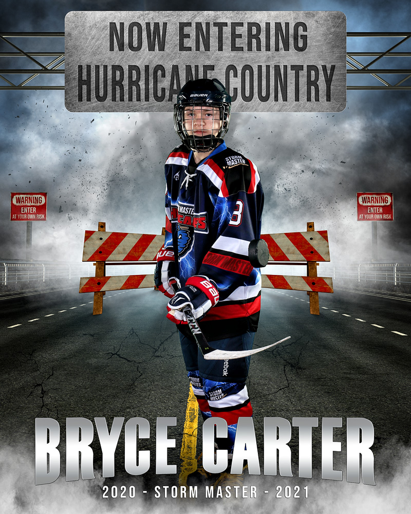 16x20 MULTI-SPORT POSTER TEMPLATE - STORM MASTER - CUSTOM PHOTOSHOP LAYERED SPORTS TEMPLATE