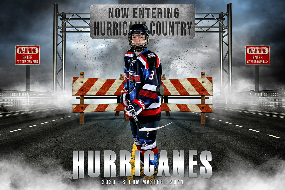 MULTI-SPORT BANNER PHOTO TEMPLATE - STORM MASTER - CUSTOM PHOTOSHOP LAYERED SPORTS TEMPLATE