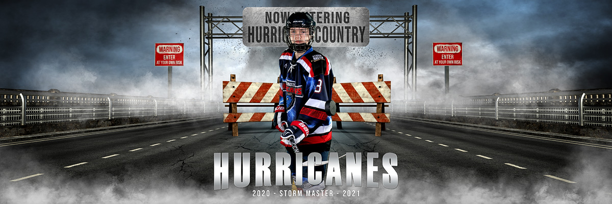 MULTI-SPORT PANORAMIC SPORTS BANNER TEMPLATE - STORM MASTER - PHOTOSHOP LAYERED SPORTS TEMPLATE