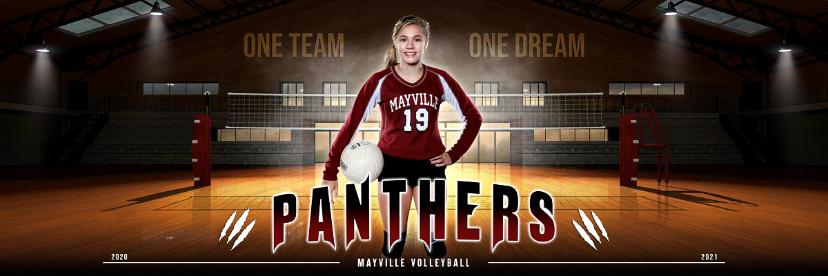 PANORAMIC SPORTS BANNER TEMPLATE - MAYVILLE
