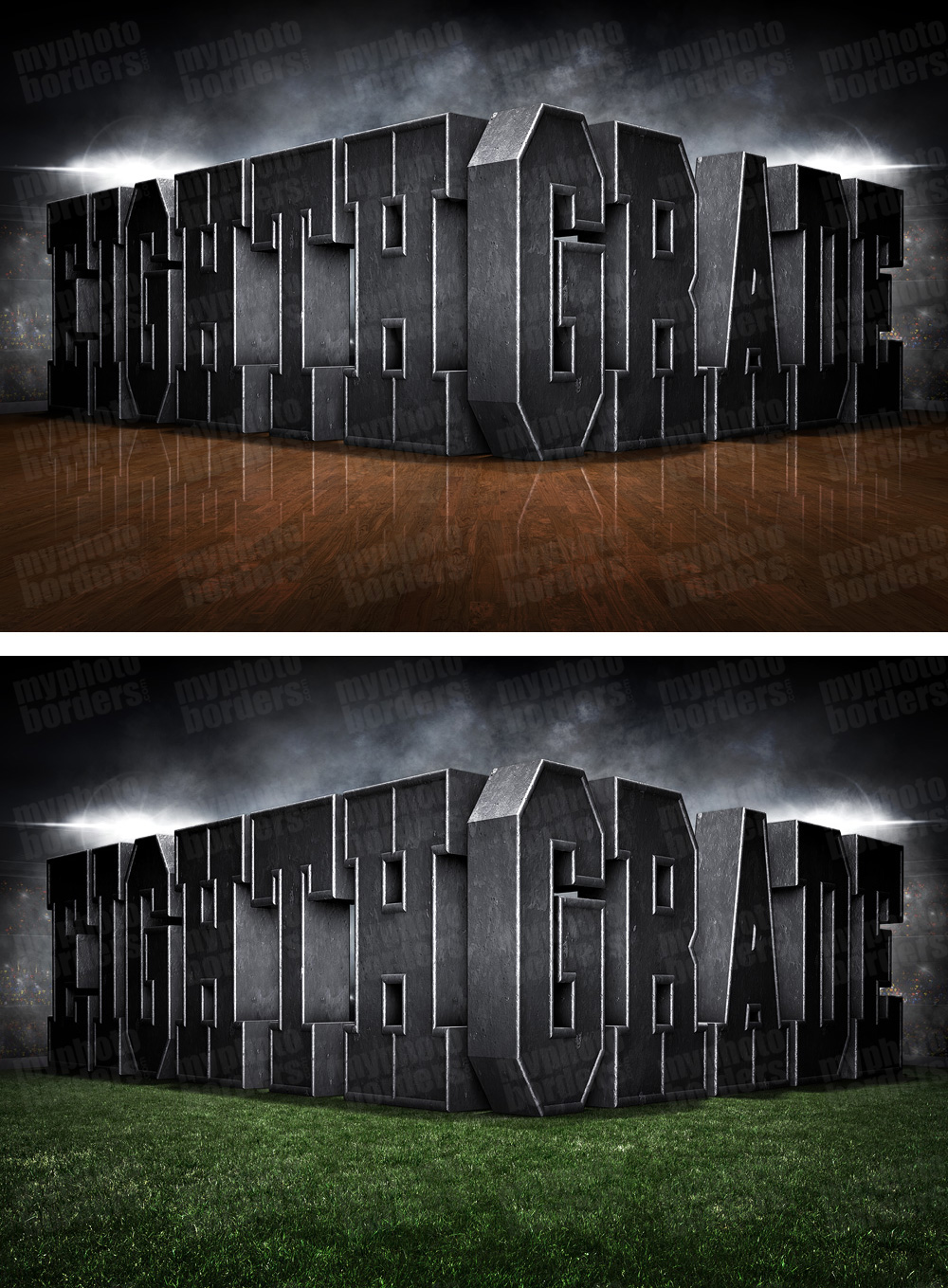 PLAYER & TEAM BANNER PHOTO TEMPLATE - SURREAL EIGHTH GRADE - CUSTOM PHOTOSHOP LAYERED SPORTS TEMPLATE