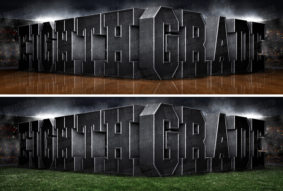 PANORAMIC SPORTS BANNER TEMPLATE - SURREAL EIGHTH GRADE - CUSTOM LAYERED PHOTOSHOP SPORTS TEMPLATE
