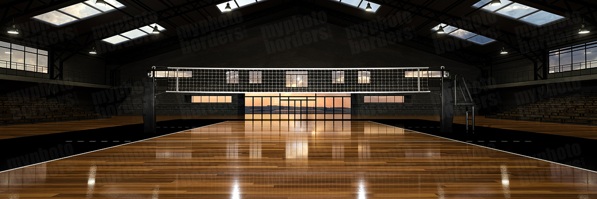 DIGITAL BACKGROUND - VOLLEYBALL COURT