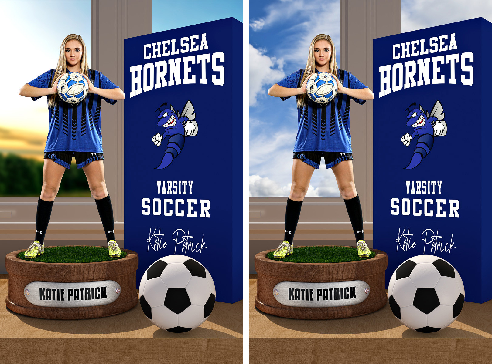 PLAYER BANNER PHOTO TEMPLATE - SOCCER DISPLAY