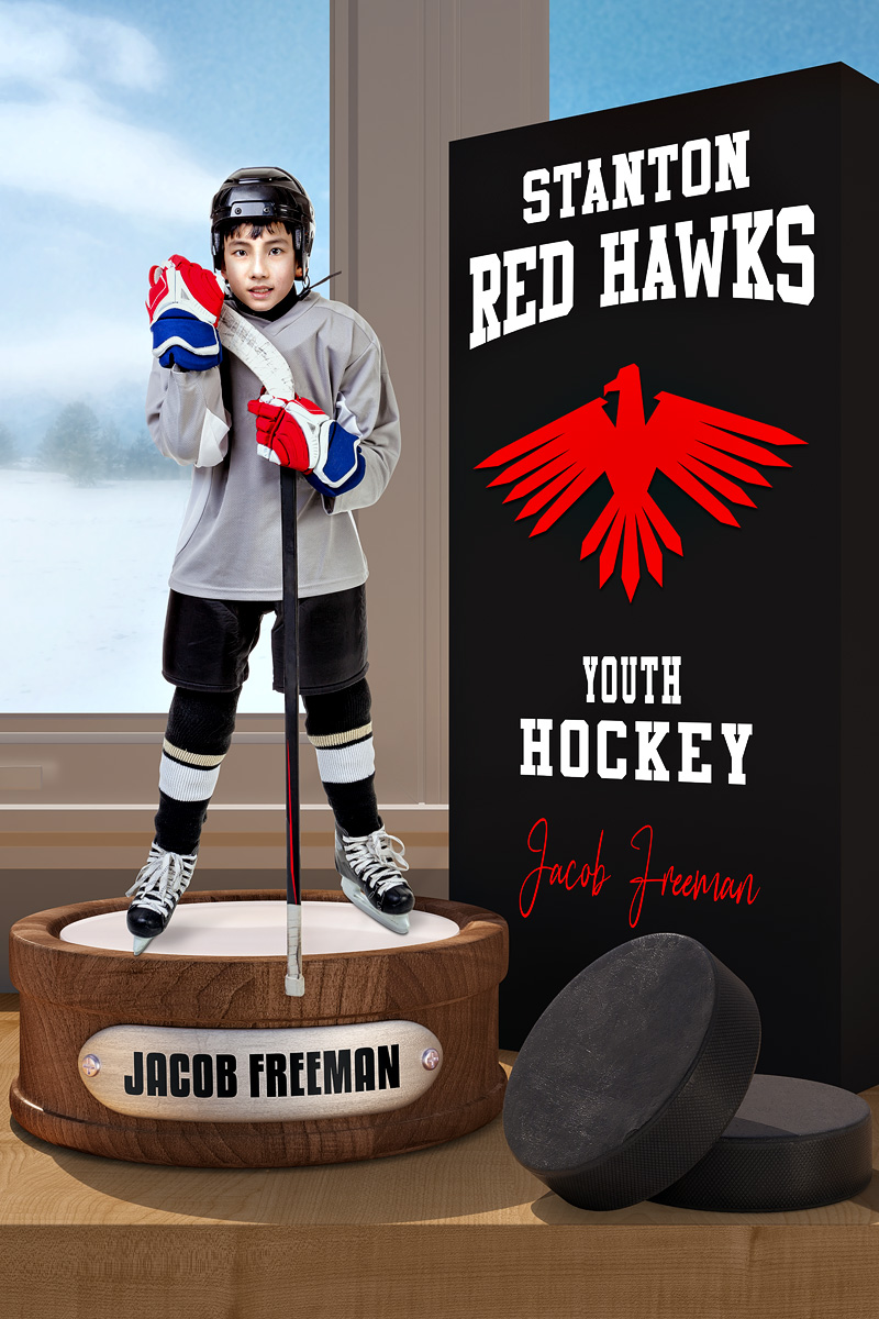 PLAYER BANNER PHOTO TEMPLATE - HOCKEY DISPLAY