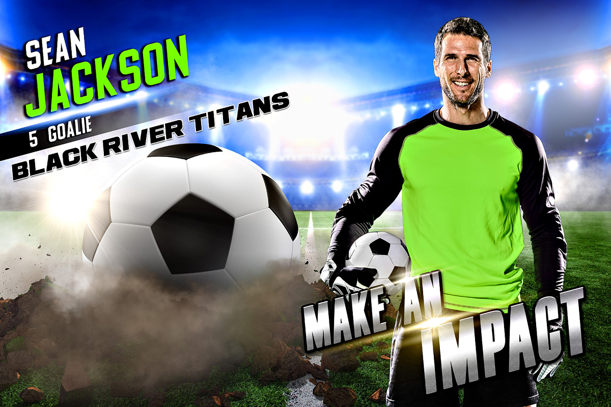PLAYER & TEAM BANNER PHOTO TEMPLATE - SOCCER IMPACT