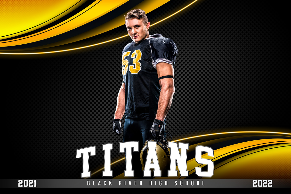 MULTI-SPORT BANNER PHOTO TEMPLATE - CURVES - CUSTOM PHOTOSHOP LAYERED SPORTS TEMPLATE