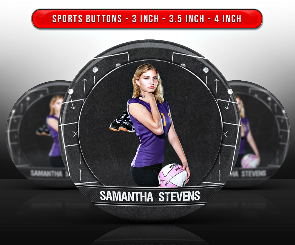 SPORTS PHOTO BUTTON TEMPLATES - VOLLEYBALL CHALK
