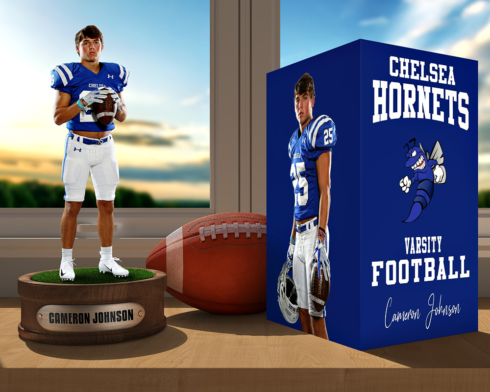 SPORTS POSTER PHOTO TEMPLATE - FOOTBALL DISPLAY - LAYERED PHOTOSHOP SPORTS TEMPLATE