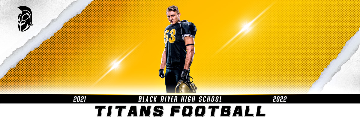 MULTI-SPORT PANORAMIC SPORTS BANNER TEMPLATE - TORN PAPER - PHOTOSHOP LAYERED SPORTS TEMPLATE