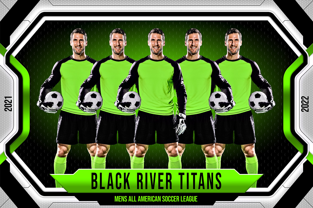 MULTI-SPORT BANNER PHOTO TEMPLATE - FRAMED - CUSTOM PHOTOSHOP LAYERED SPORTS TEMPLATE