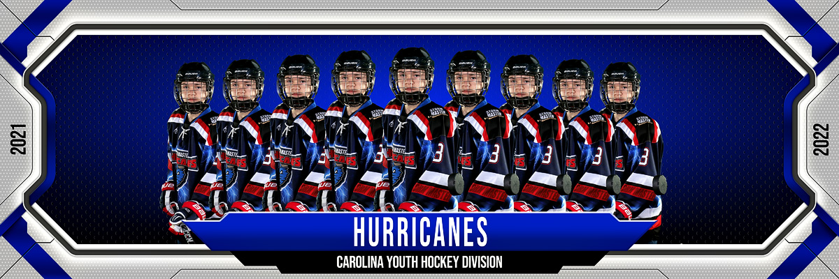 MULTI-SPORT PANORAMIC SPORTS BANNER TEMPLATE - FRAMED - PHOTOSHOP LAYERED SPORTS TEMPLATE