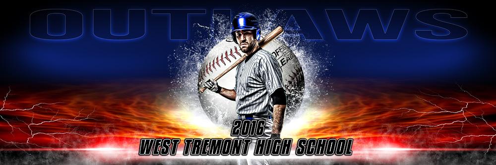panoramic sports team banner photo template splash baseball