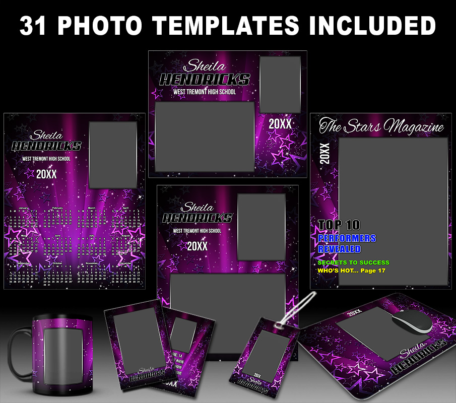 STARS PHOTO TEMPLATE COLLECTION