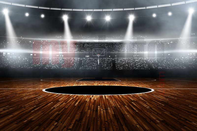 DIGITAL BACKGROUND - BASKETBALL STADIUM - HORIZONTAL