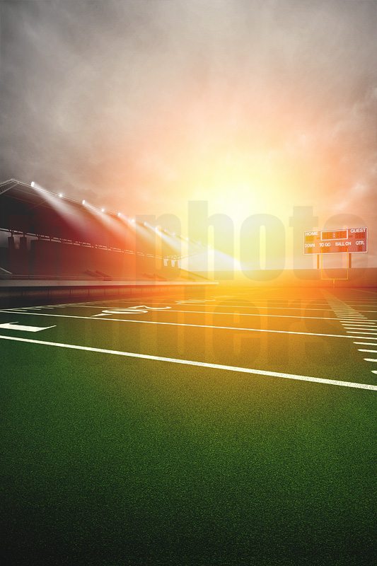DIGITAL BACKGROUND - FOOTBALL SUNRISE