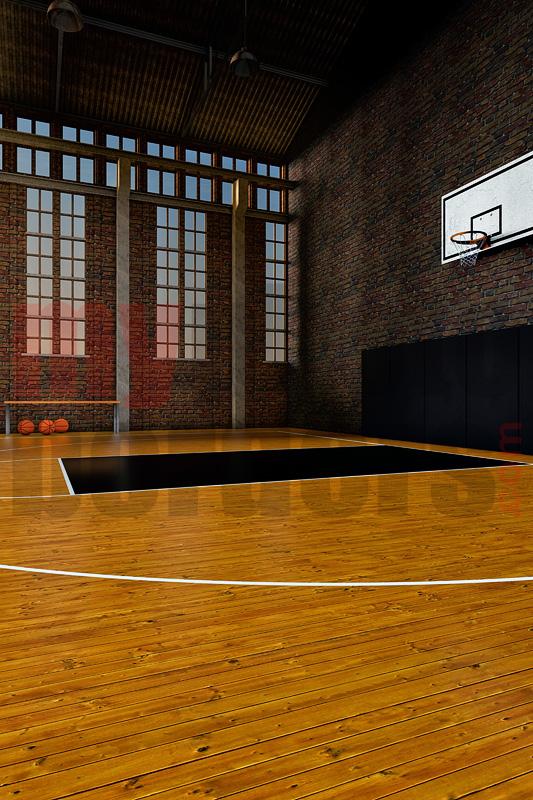 DIGITAL BACKGROUND - OLD SCHOOL BASKETBALL