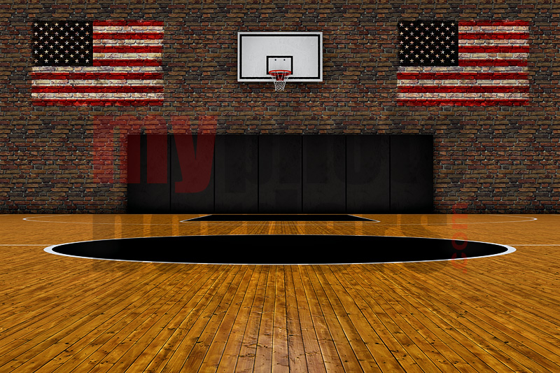 DIGITAL BACKGROUND - OLD SCHOOL BASKETBALL - HORIZONTAL
