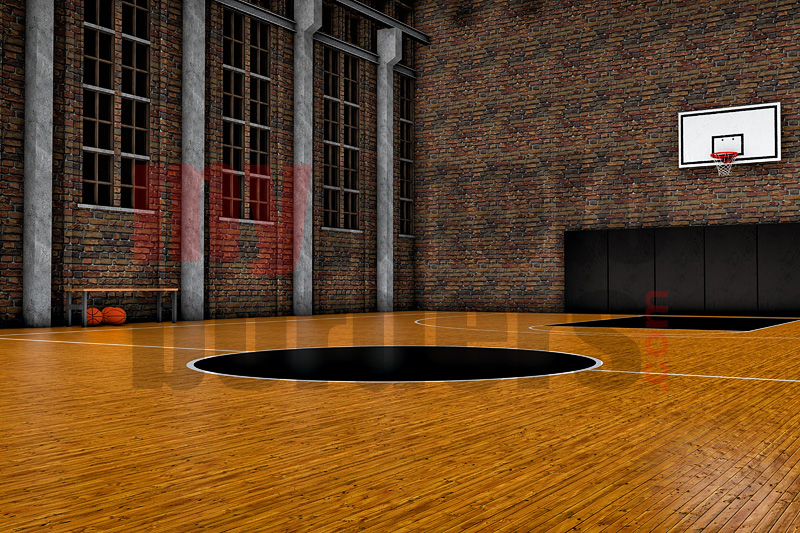 DIGITAL BACKGROUND - OLD SCHOOL BASKETBALL II HORIZONTAL