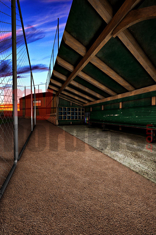 DIGITAL BACKGROUND - DUGOUT
