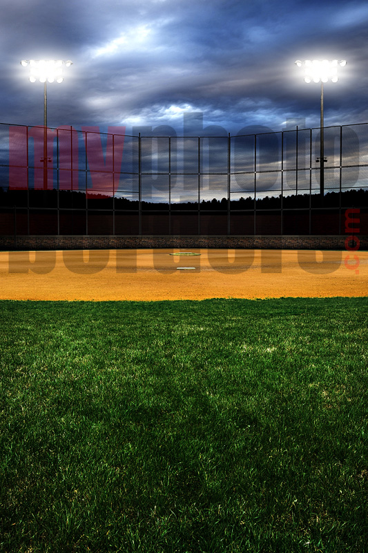 DIGITAL BACKGROUND - HOMETOWN BASEBALL